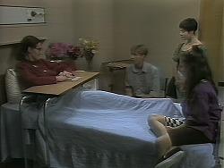Dorothy Burke, Ryan McLachlan, Kerry Bishop, Lochy McLachlan in Neighbours Episode 1162