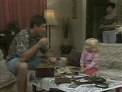 Joe Mangel, Sky Mangel, Kerry Bishop in Neighbours Episode 1162