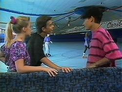 Melissa Jarrett, Todd Landers, Josh Anderson in Neighbours Episode 1163