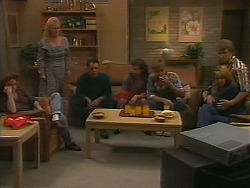 Jackie, Sharon Davies, Matt Robinson, Tanya Walsh, Ryan McLachlan, Melanie Pearson, Kelvin Stubbs in Neighbours Episode 1164