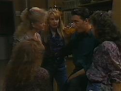 Sharon Davies, Melanie Pearson, Matt Robinson, Tanya Walsh in Neighbours Episode 1164