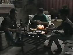 Matt Robinson, Joe Mangel, Kerry Bishop in Neighbours Episode 1165