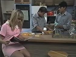 Melissa Jarrett, Todd Landers, Josh Anderson in Neighbours Episode 1166