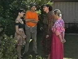Kerry Bishop, Joe Mangel, Dorothy Burke, Helen Daniels in Neighbours Episode 1166