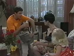 Joe Mangel, Kerry Bishop, Sky Mangel in Neighbours Episode 1166