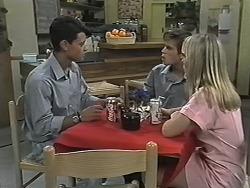 Josh Anderson, Todd Landers, Melissa Jarrett in Neighbours Episode 1166
