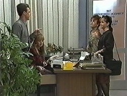 Paul Robinson, Melanie Pearson, Christina Alessi, Caroline Alessi in Neighbours Episode 1168