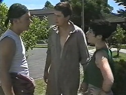 Matt Robinson, Joe Mangel, Kerry Bishop in Neighbours Episode 1169