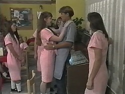 Schoolgirl, Ryan McLachlan, Bernie in Neighbours Episode 1169