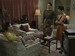 Joe Mangel, Dorothy Burke, Kerry Bishop in Neighbours Episode 1171
