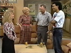 Sharon Davies, Madge Bishop, Harold Bishop, Eddie Buckingham in Neighbours Episode 1173