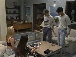 Melissa Jarrett, Cody Willis, Todd Landers, Josh Anderson in Neighbours Episode 1173