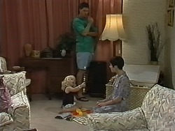 Sky Bishop, Joe Mangel, Kerry Bishop in Neighbours Episode 1173