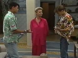 Josh Anderson, Helen Daniels, Todd Landers in Neighbours Episode 1174