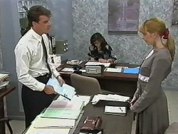 Paul Robinson, Caroline Alessi, Melanie Pearson in Neighbours Episode 1174