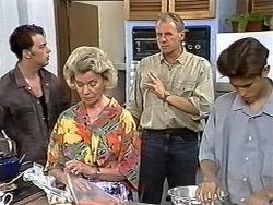 Matt Robinson, Helen Daniels, Jim Robinson, Todd Landers in Neighbours Episode 1174
