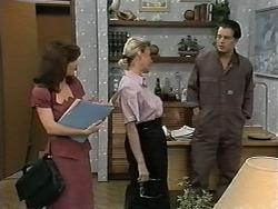 Caroline Alessi, Helen Daniels, Matt Robinson in Neighbours Episode 1175