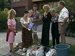 Sharon Davies, Kerry Bishop, Joe Mangel, Madge Bishop, Helen Daniels, Harold Bishop in Neighbours Episode 1176