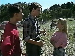 Josh Anderson, Foggy, Melissa Jarrett in Neighbours Episode 1178
