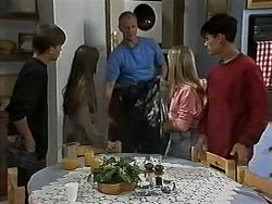 Todd Landers, Cody Willis, Jim Robinson, Melissa Jarrett, Josh Anderson in Neighbours Episode 1179