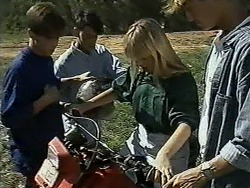 Todd Landers, Josh Anderson, Melissa Jarrett, Ryan McLachlan in Neighbours Episode 1179