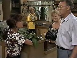 Caroline Alessi, Madge Bishop, Sharon Davies, Harold Bishop in Neighbours Episode 1180