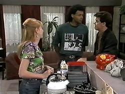 Melanie Pearson, Eddie Buckingham, Paul Robinson in Neighbours Episode 1180