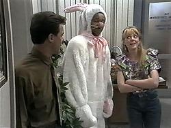 Paul Robinson, Eddie Buckingham, Melanie Pearson in Neighbours Episode 1180