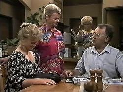 Sharon Davies, Helen Daniels, Madge Bishop, Harold Bishop in Neighbours Episode 1180