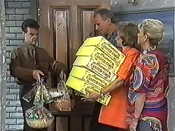 Paul Robinson, Jim Robinson, Beverly Marshall, Helen Daniels in Neighbours Episode 1181