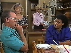 Harold Bishop, Sharon Davies, Madge Bishop, Eddie Buckingham in Neighbours Episode 1183
