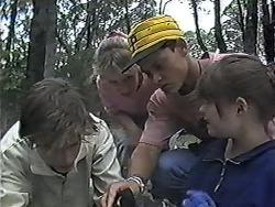 Todd Landers, Melissa Jarrett, Josh Anderson, Cody Willis in Neighbours Episode 1184