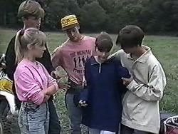 Melissa Jarrett, Ryan McLachlan, Josh Anderson, Cody Willis, Todd Landers in Neighbours Episode 1184