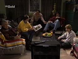 Lou Carpenter, Philip Martin, Rick Alessi, Sam Kratz, Brett Stark in Neighbours Episode 2229