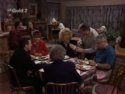 Rick Alessi, Mark Gottlieb, Cody Willis, Pam Willis, Marlene Kratz, Cheryl Stark, Doug Willis, Lou Carpenter in Neighbours Episode 2230
