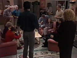 Marlene Kratz, Philip Martin, Hannah Martin, Lou Carpenter, Sam Kratz, Jack Flynn, Gaby Willis, Doug Willis, Rick Alessi, Cheryl Stark in Neighbours Episode 2230