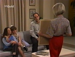 Cody Willis, Hannah Martin, Philip Martin, Helen Daniels in Neighbours Episode 2271
