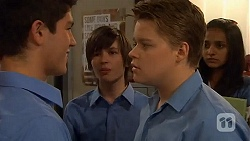 Alister O'Loughlin, Bailey Turner, Callum Rebecchi, Rani Kapoor in Neighbours Episode 6586