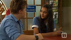 Callum Rebecchi, Rani Kapoor in Neighbours Episode 6586