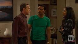 Paul Robinson, Ajay Kapoor, Priya Kapoor in Neighbours Episode 6590