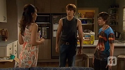 Vanessa Villante, Mason Turner, Bailey Turner in Neighbours Episode 6591