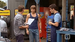 Lucas Fitzgerald, Mason Turner, Chris Pappas in Neighbours Episode 6592