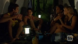 Kyle Canning, Chris Pappas, Scotty Boland, Georgia Brooks in Neighbours Episode 6593