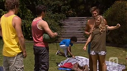 Kyle Canning, Chris Pappas, Scotty Boland, Georgia Brooks in Neighbours Episode 6594