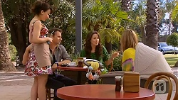 Vanessa Villante, Lucas Fitzgerald, Kate Ramsay, Sonya Mitchell in Neighbours Episode 6594
