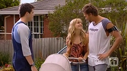 Chris Pappas, Georgia Brooks, Scotty Boland in Neighbours Episode 6594