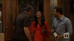 Karl Kennedy, Priya Kapoor, Ajay Kapoor in Neighbours Episode 6594