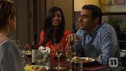 Susan Kennedy, Priya Kapoor, Ajay Kapoor in Neighbours Episode 6595