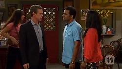 Paul Robinson, Ajay Kapoor, Priya Kapoor in Neighbours Episode 6595