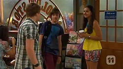 Callum Rebecchi, Bailey Turner, Rani Kapoor in Neighbours Episode 6596